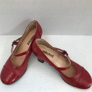 """Size 6 Red 2.5"""" Heel Unlisted Mary Jane Shoes"""